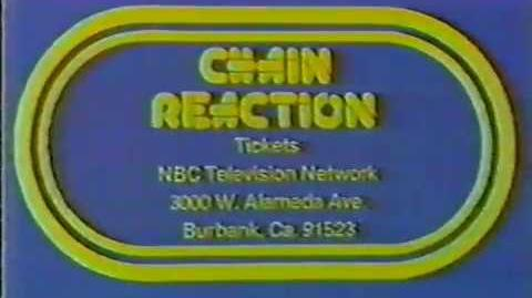 Chain Reaction ticket plug, 1980
