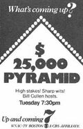 $ 25,000 Pyramid Bill Cullen Ad