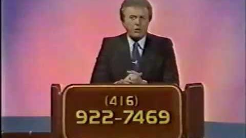 Jackpot contestant plug & promo, 1986