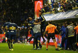 Festejando el gol