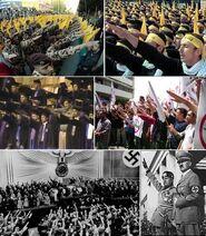 Hezbollah hamas nazi salute!
