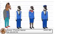 Flying Geese model sheet