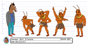 S4E07 Ant Slaves Model Sheet