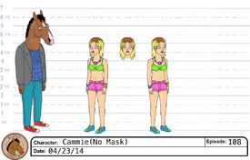 Mask-less Cammie model sheet