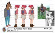 S5E08 Sharona Jurassic Park costume 1993