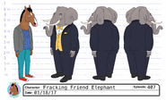 S4E07 Fracking Friend Elephant Model Sheet
