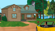 S4E2 BoJack pulls up to the summer home