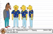 Young Mr Peanutbutter model sheet