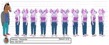 Yolanda Buenaventura Model sheet