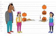 Zoë and Zelda Pumpkins model sheet