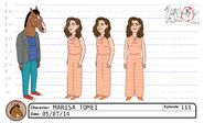 Marisa Tomei model sheet