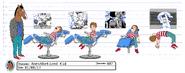Anesthetized Kid Model sheet
