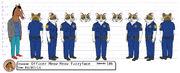 Officer MeowMeow Fuzzyface model sheet 2