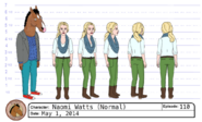 Naomi Watts model sheet