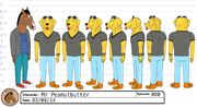 Mr Peanutbutter model sheet