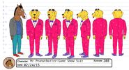 Mr Peanutbutter's game show suit model sheet