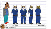 Officer MeowMeow Fuzzyface model sheet 1