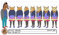 Wanda Pierce model sheet