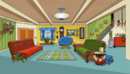 Hollyhock's dad's living room