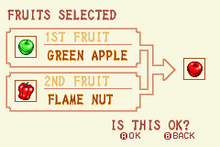 Green Apple + Flame Nut = Red Apple