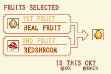 (4) Heal Fruit + Redshroom = Solar Nut