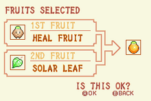 (6) Heal Fruit + Solar Leaf = Solar Nut