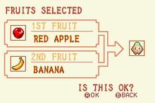 Red Apple + Banana = Heal Fruit