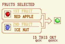 (1) Red Apple + Ice Nut = Tiptoe Nut