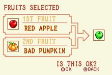 Red Apple + Bad Pumpkin = Green Apple