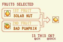 (5) Solar Nut + Bad Pumpkin = Speed Nut