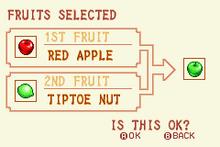 Red Apple + Tiptoe Nut = Green Apple