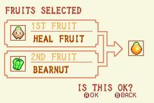 (5) Heal Fruit + Bearnut = Solar Nut