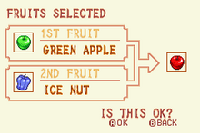 Green Apple + Ice Nut = Red Apple