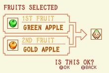 Green Apple + Gold Apple + Heal Fruit