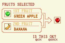 Green Apple + Banana = Red Apple