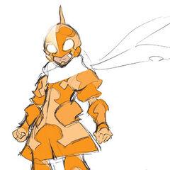 Concept art of Django's Sol TRC, seemingly inspired by Kamen Rider