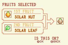 Solar Nut + Solar Leaf = Heal Fruit