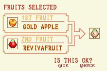 Gold Apple + Revivafruit = Heal Fruit