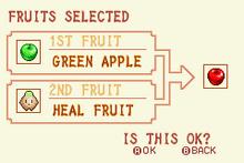 Green Apple + Heal Fruit = Red Apple