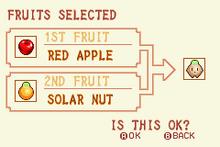 Red Apple + Solar Nut = Heal Fruit