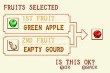 Green Apple + Empty Gourd = Red Apple