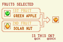Green Apple + Solar Nut = Gold Apple