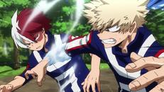 Shoto vs Katsuki corsa ad ostacoli
