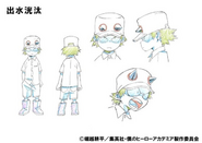 Kota Izumi Shading TV Animation Design Sheet