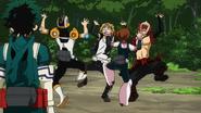 Ochaco, Eijiro, Denki and Sero dancing