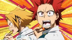 Eijiro and Denki are hungry