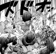 Izuku, Shoto, and Mezo tackle Mr. Compress (Manga)