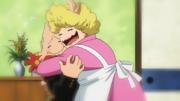 Koji Koda and his mother