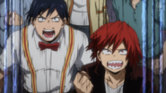 Tenya and Eijiro cheer for All Might