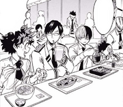 Tenya and Shoto check on Izuku